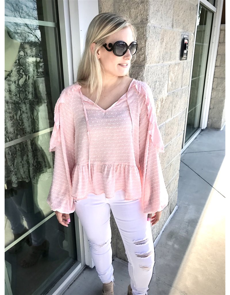 Frill Detail Top - Pink