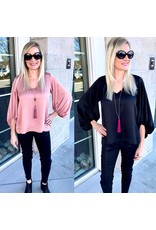 Bubble Sleeves Dressy Top