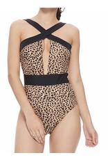 Leopard Swimsuit - Black