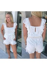 Lace Romper - Ivory