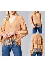 FATE Fringe Hem Sweater - Rust