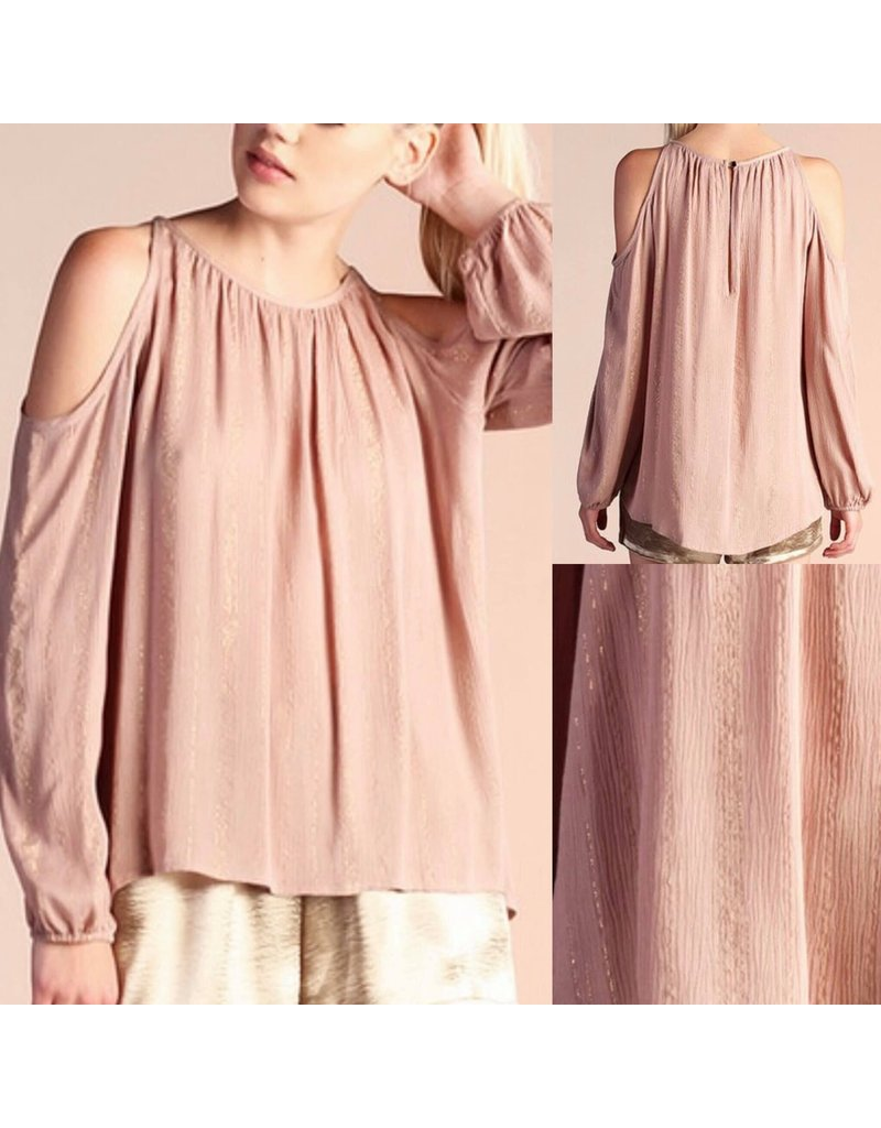Cold Shoulder Top - Mauve