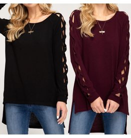 Strappy Sleeves Knit Tunic