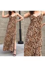 Snake Skin Maxi Dress - Camel