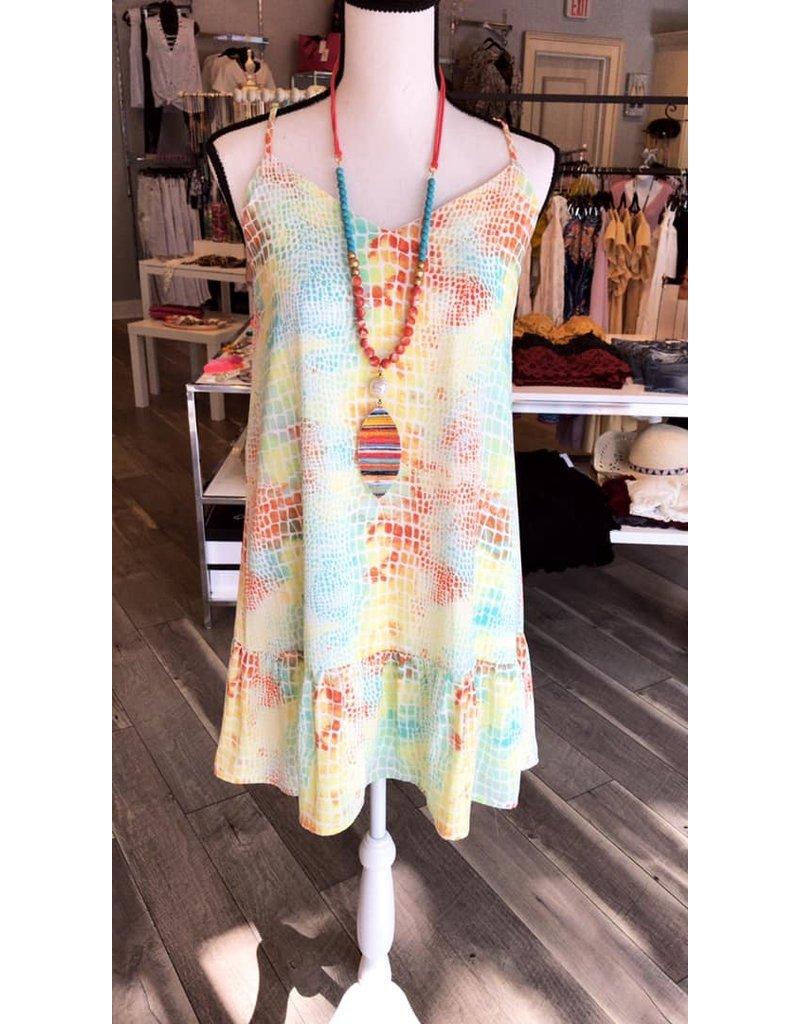 Animal Print Dress - Mint