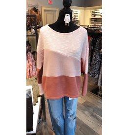 ACOA Color Block Pullover - Mauve