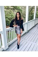 Faux Leather Snake Skin Skirt