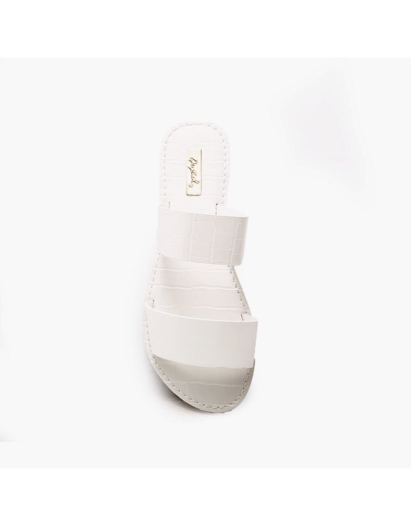 Qupid Athena Sandals - White