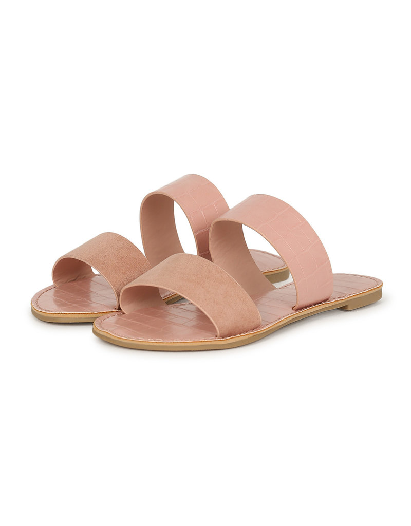 Qupid Athena Sandals - Blush