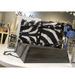 Studded Clutch/Crossbody Bag - Animal Print