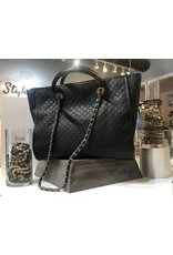 Quilted Handbag - Black