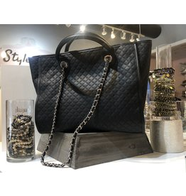 Quilted Handbag - Black