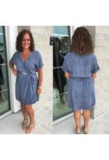 Wrap Dress - Denim Blue