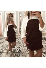 Denim Dress Overall - Maroon