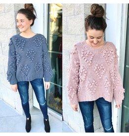 Hearts Bubble Sweater