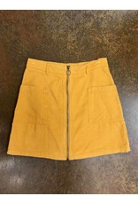 Corduroy Zipper Skirt