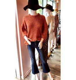 Half Sleeve Sweater- Rust
