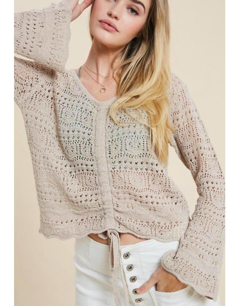 Boho Sweater Top - Taupe