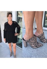 Lace Detail Dress - Black