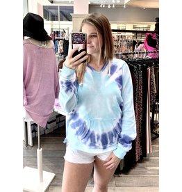 Beach Blue Tie Dye Hoodie