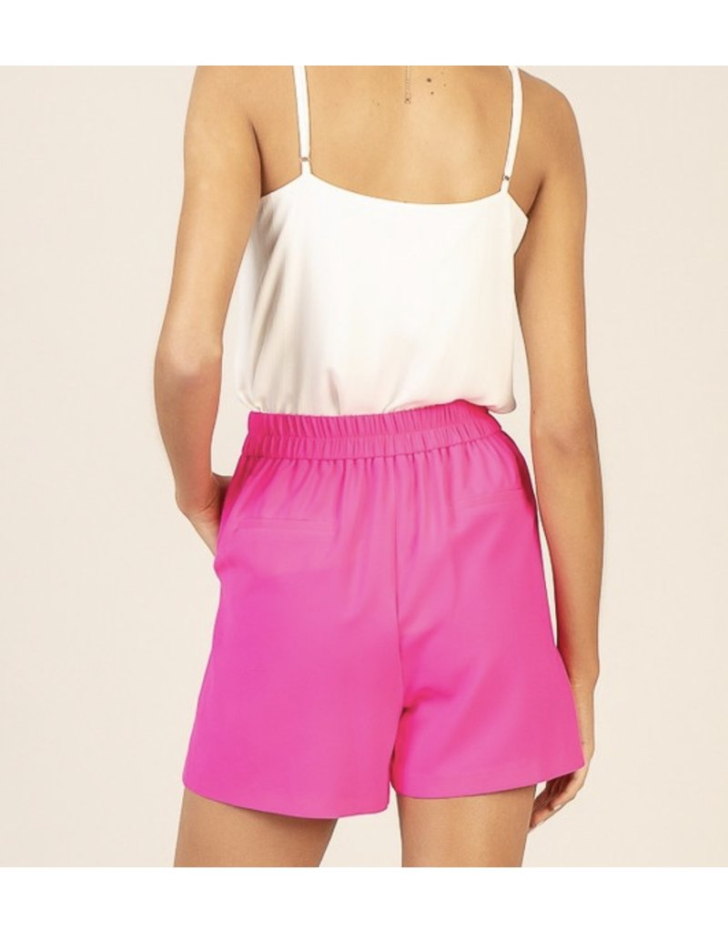 Skies Are Blue Elastic Back Shorts - Pink