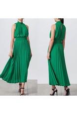 Pleated Midi Dress - Green