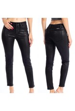 Coated Mid Rise Jeans