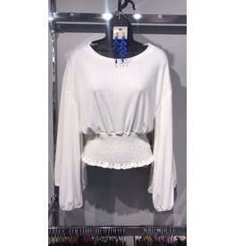 Smocked Waist Top - Off White