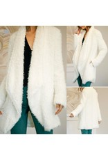 MUSTARD SEED Fux Fur Coat - Off White