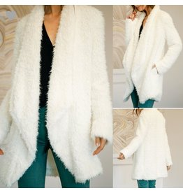 Fux Fur Coat - Off White
