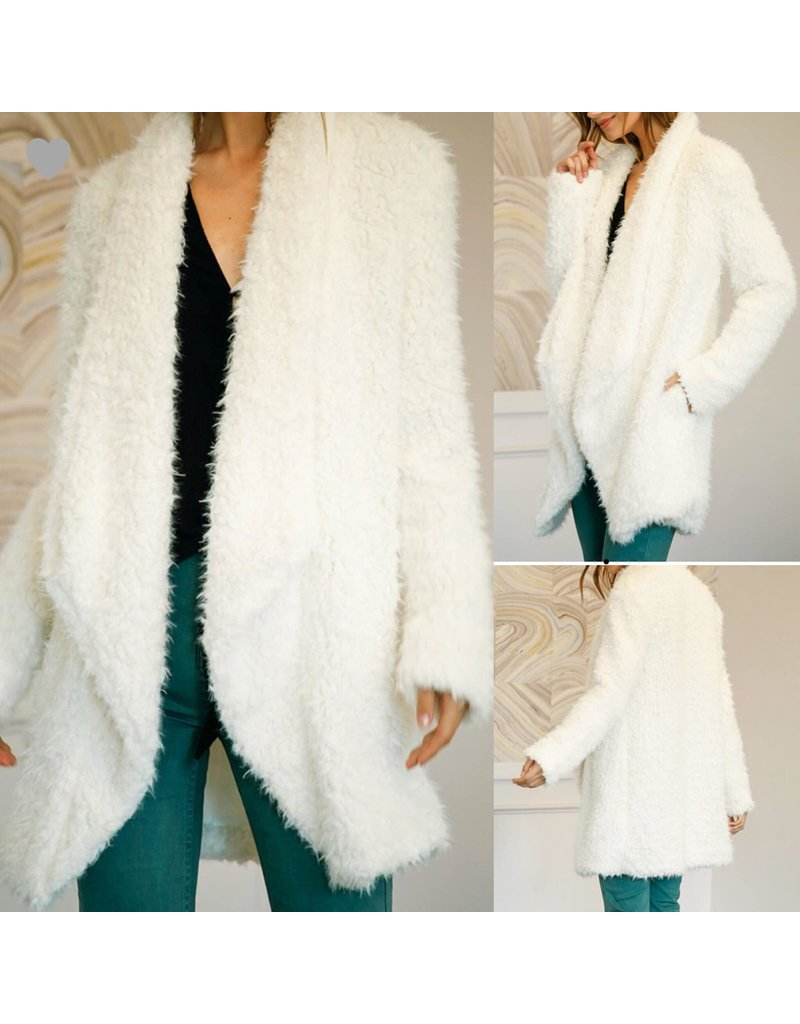 Fux Fur Coat - Off White