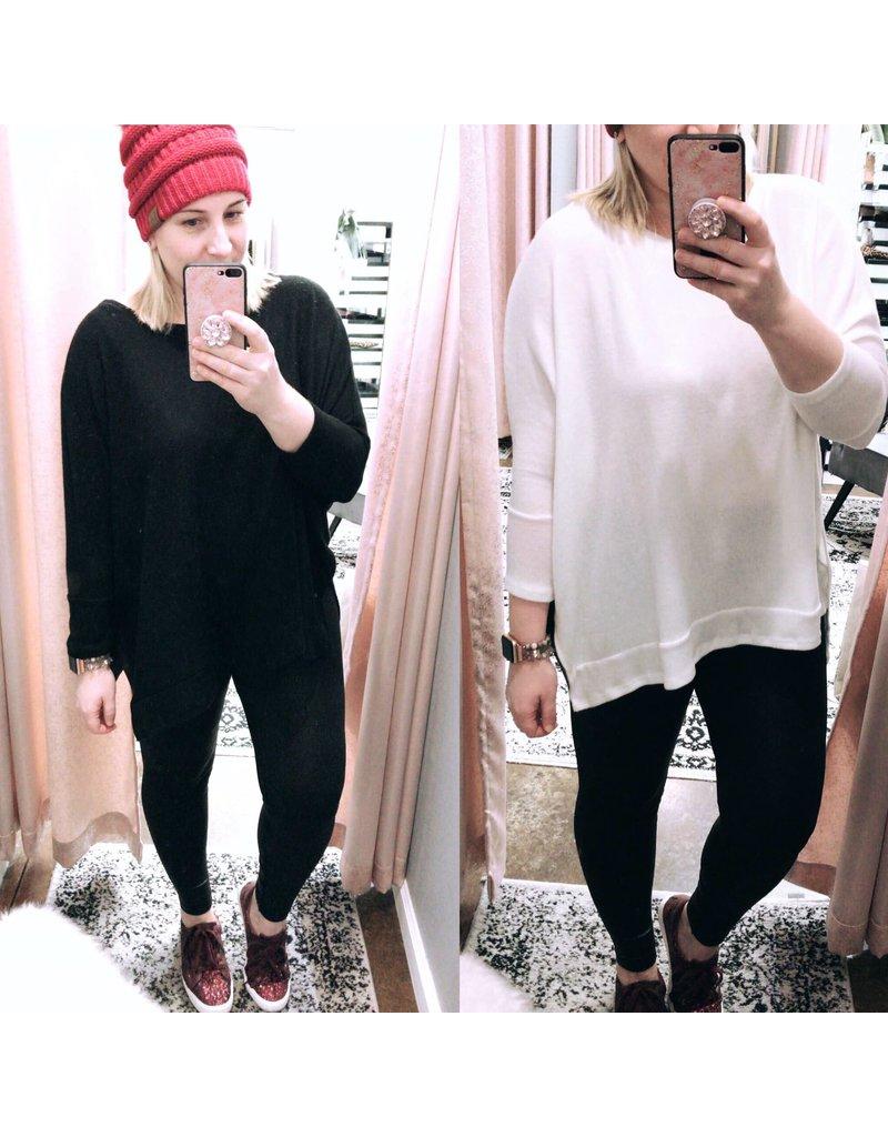 Oversized Round Neck Knit Tunic