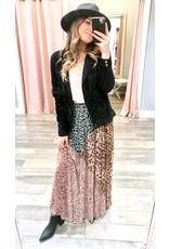 Mixed Animal Print Maxi Skirt - Multi