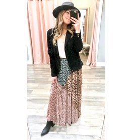 FATE Mixed Animal Print Maxi Skirt - Multi
