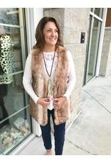 TCEC Faux Fur Vest - Brown