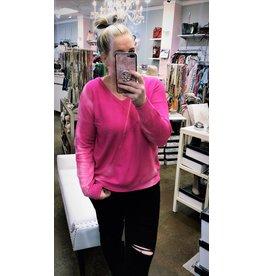 Tie Dye Sweater - Hot Pink