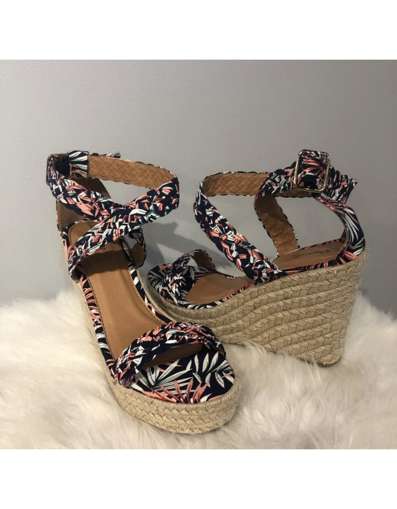 Boston Wedges - Blue