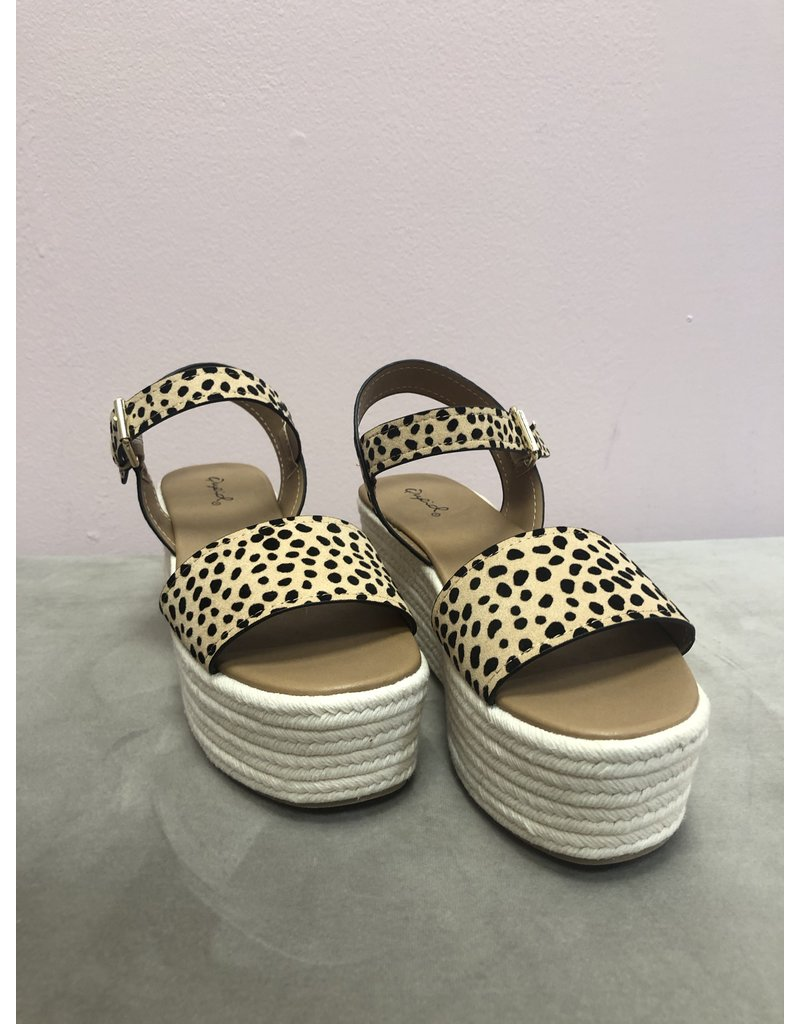 Qupid Bigbang Wedges - Leopard