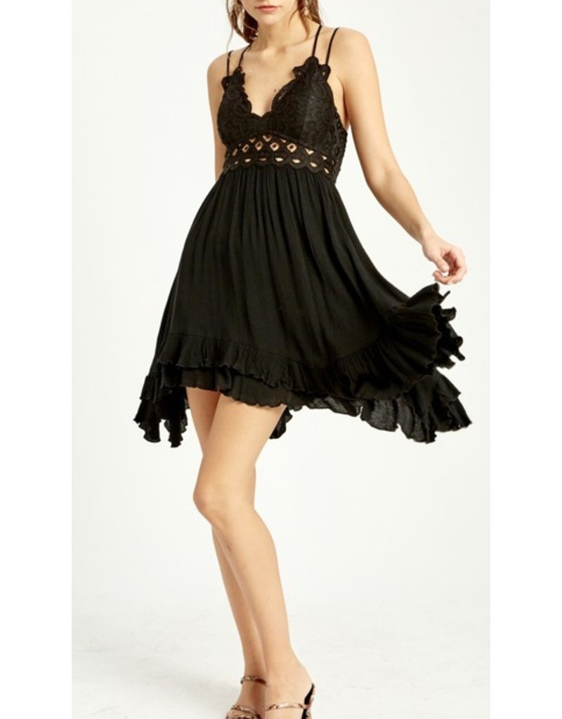 Bralette Dress - Black