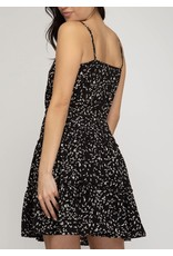 Drawstring Detail Dress - Black