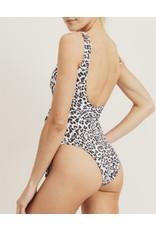 MonoB Leopard Tie Detail Swimsuit