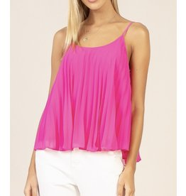 Skies Are Blue Pleated Top - Ultra Pink