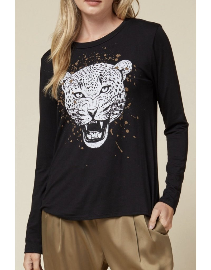 Tiger Knit Top - Black