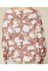 Tie Dye Oversized Top - Rose