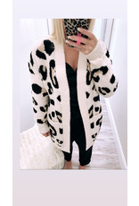 Distressed Leopard Cardigan - Natural