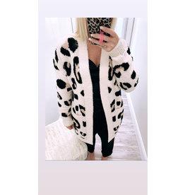 Distressed Leopard Cardigan - Natural