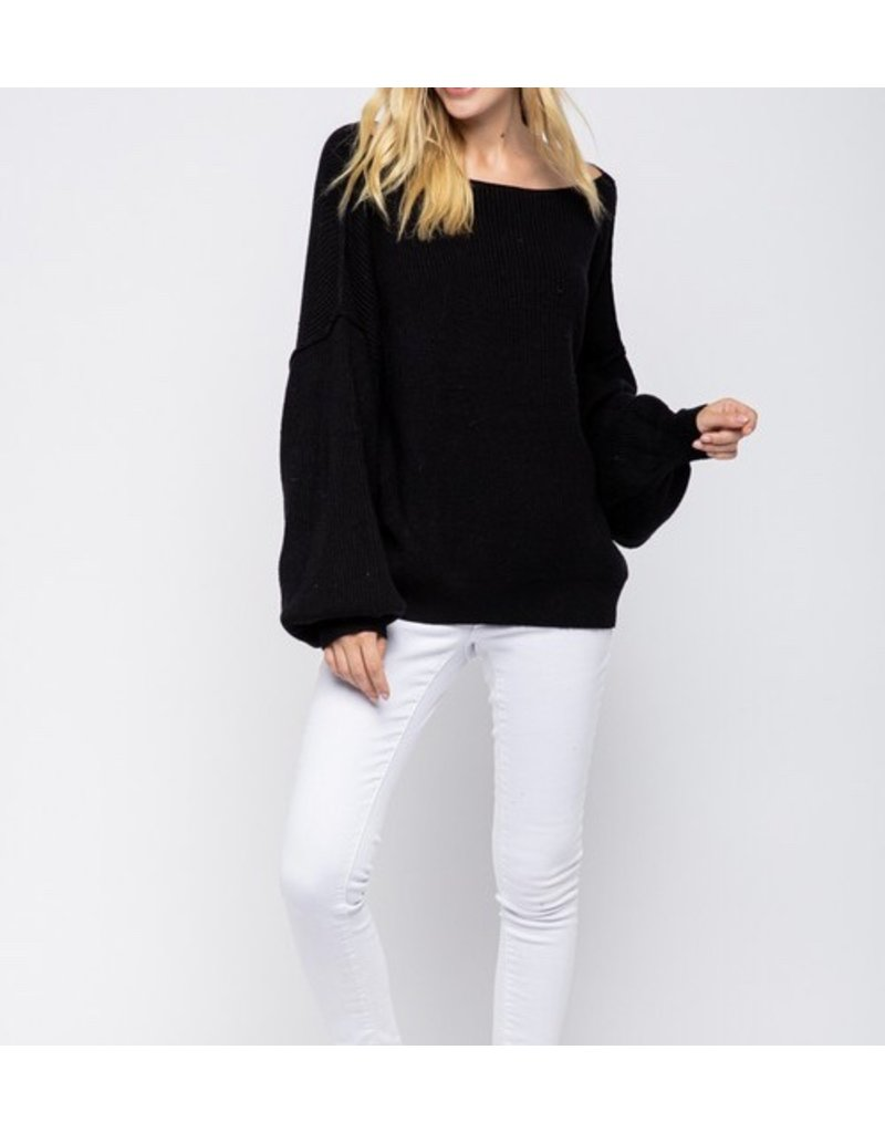 MSW8147-IW Oversized Boat Neck Sweater