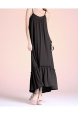Ruffle Detail Maxi Dress - Black