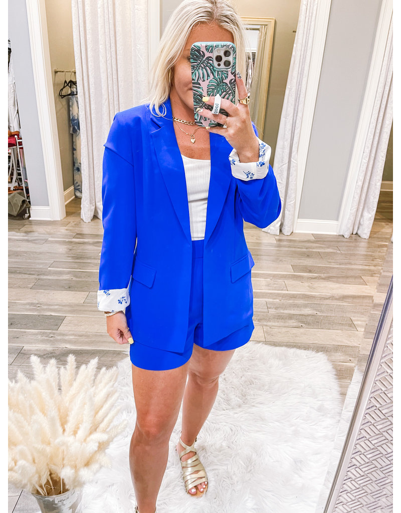 Skies Are Blue Lightweight Pocket Blazer - Blue