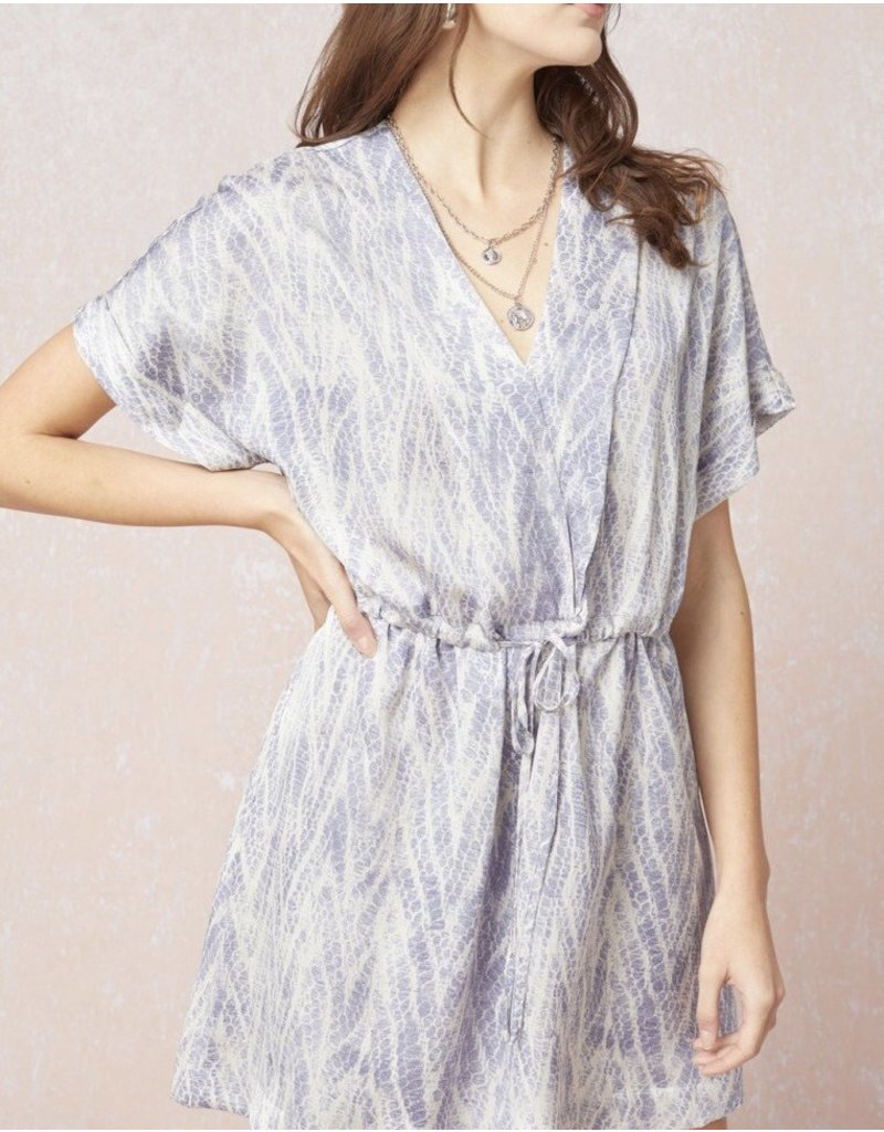 Tie Detail Dress - Blue